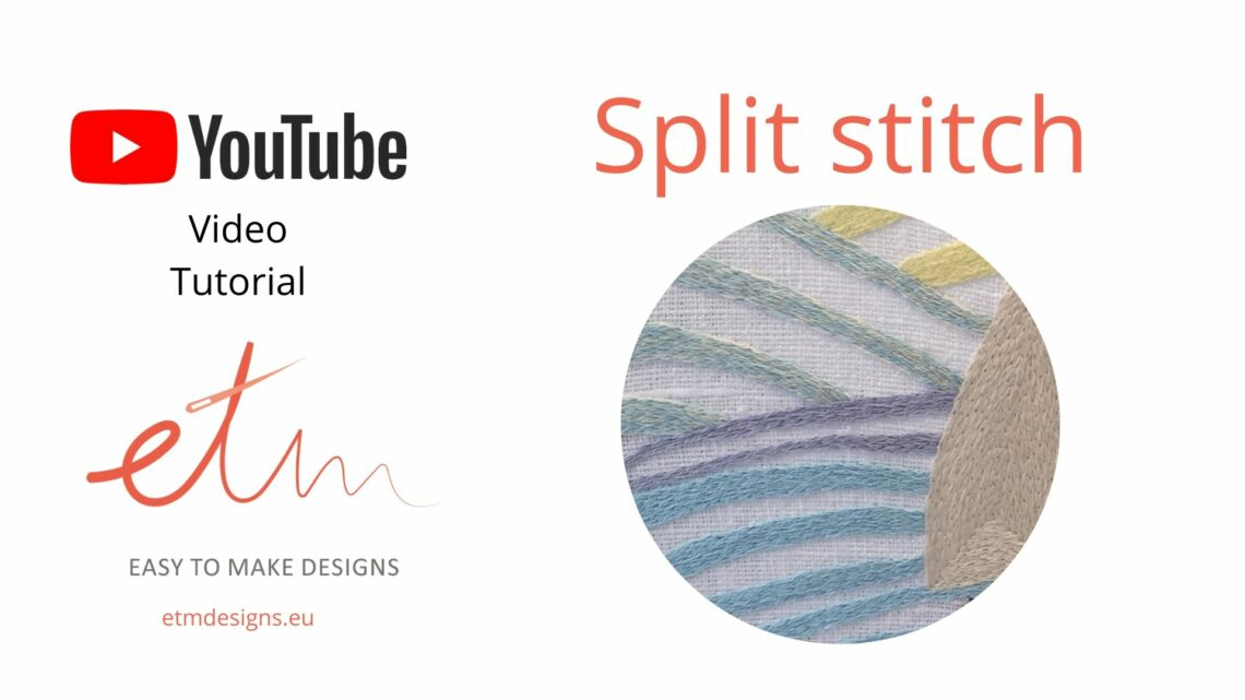 Split stitch hand embroidery video tutorial cover photo