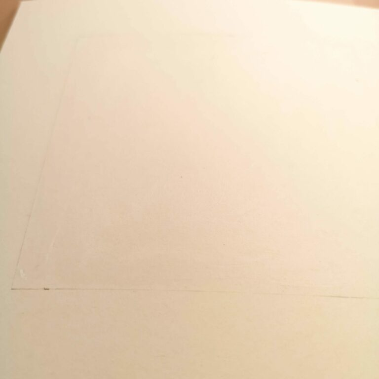 Applying the glue on the paper card