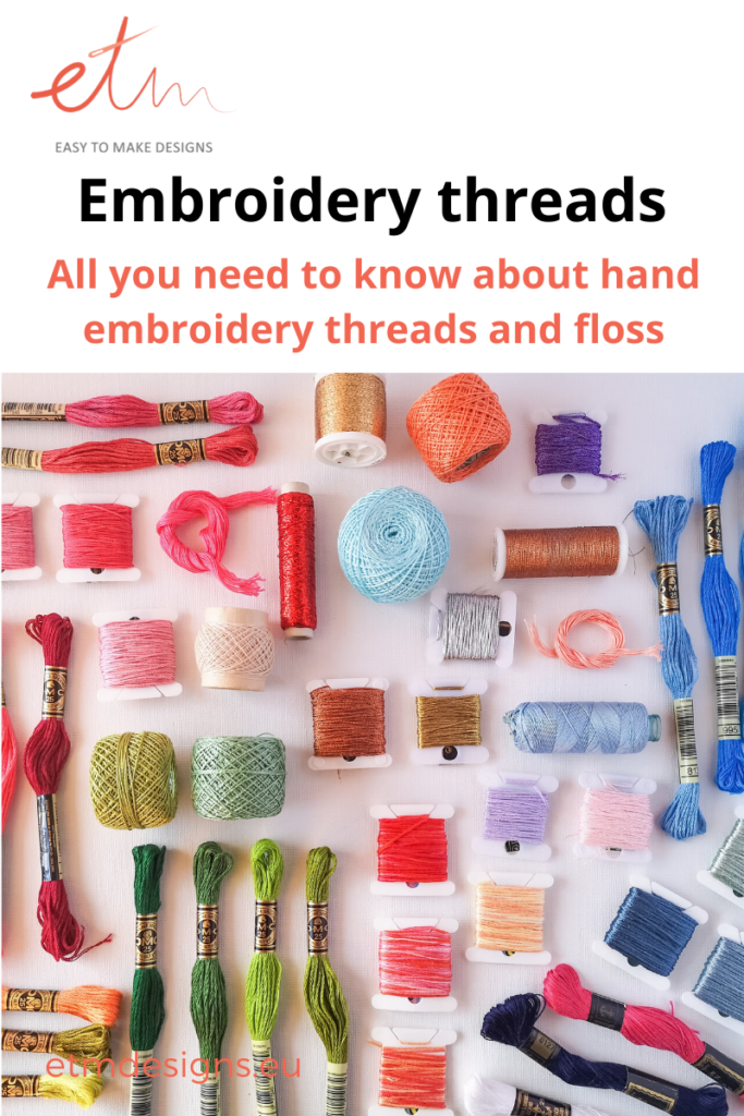 all you need to know about hand embroidery thread and floss