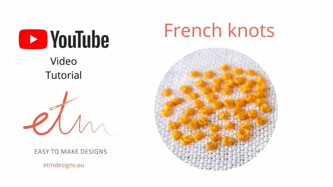 French knots hand embroidery stitch video tutorial