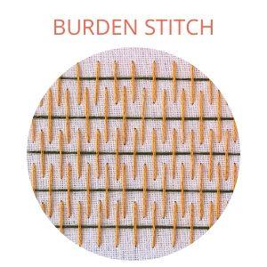 Burden stitch hand embroidery
