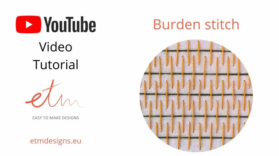 Burden stitch hand embroidery video tutorial