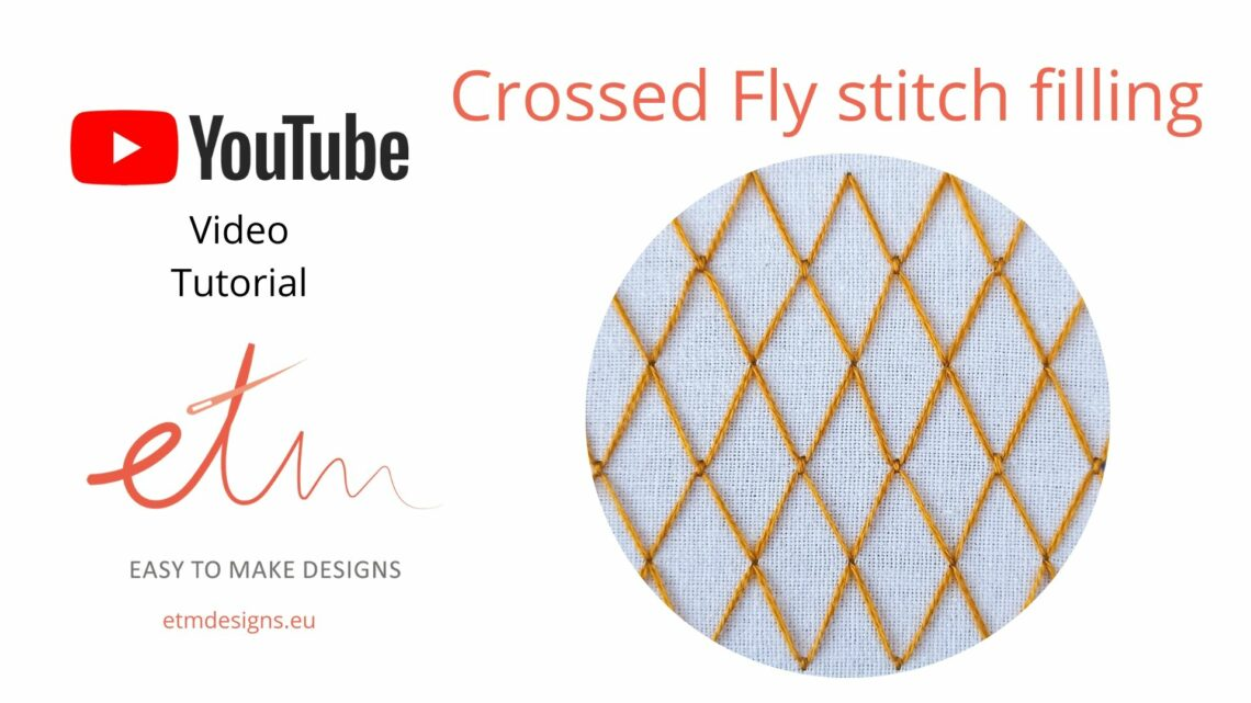 Crossed Fly stitch video tutorial cover