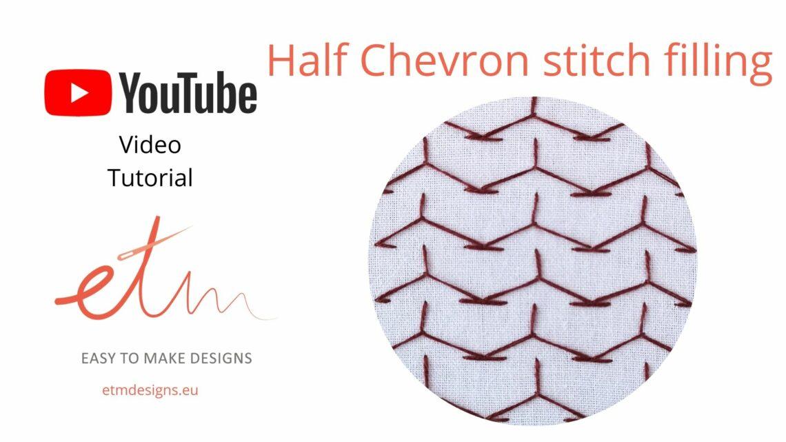 Half chevron stitch filling video tutorial cover photo
