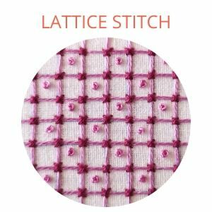 Lattice stitch hand embroidery