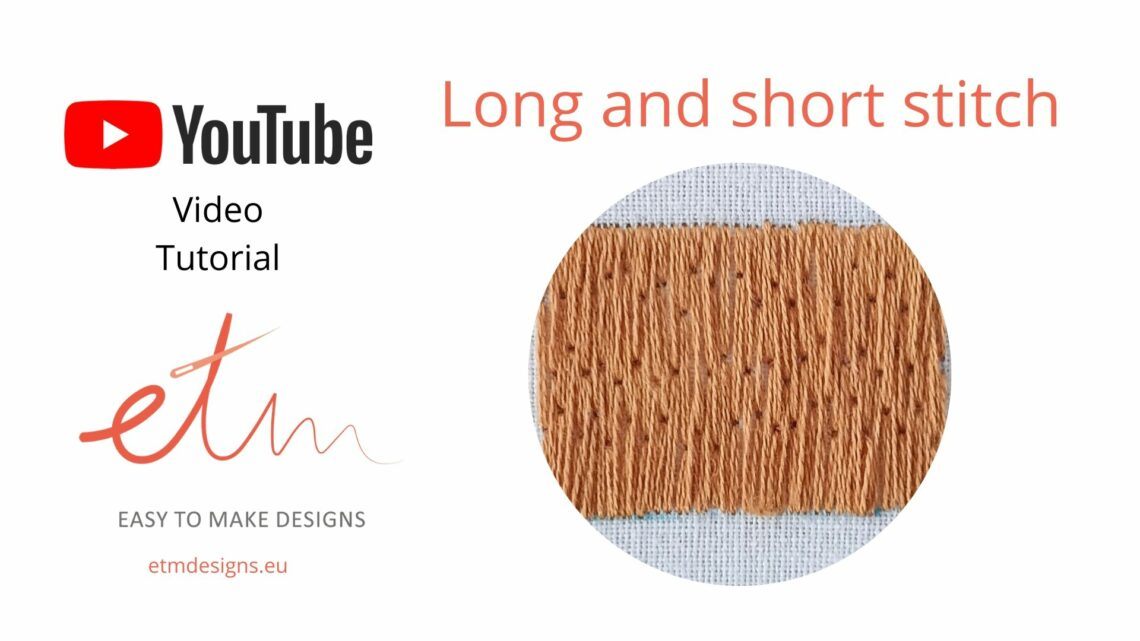 Long and short stitch video tutorial cover