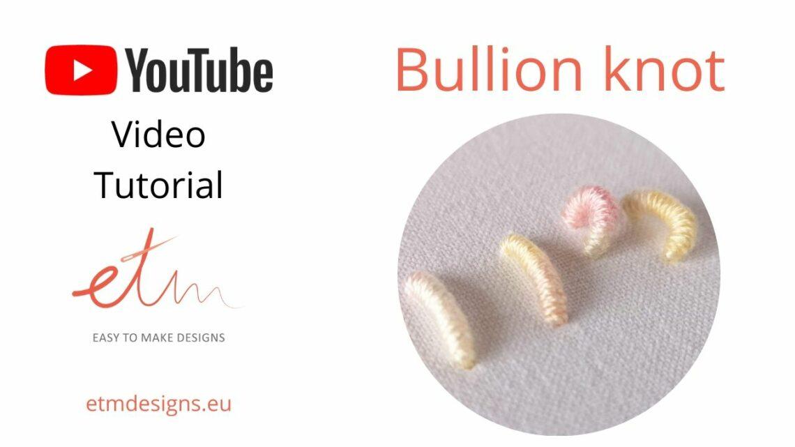 Bullion knot hand embroidery stitch