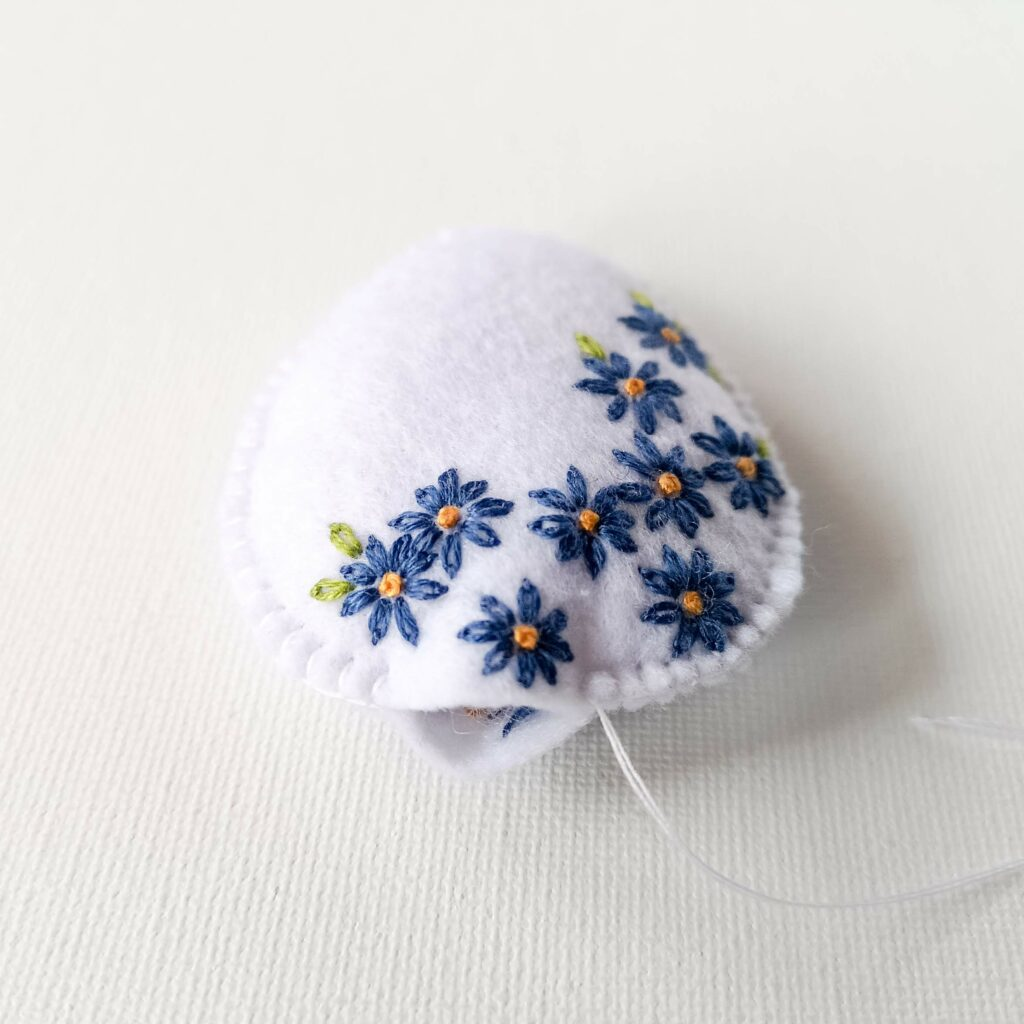 Easter egg felt decoration stuffing