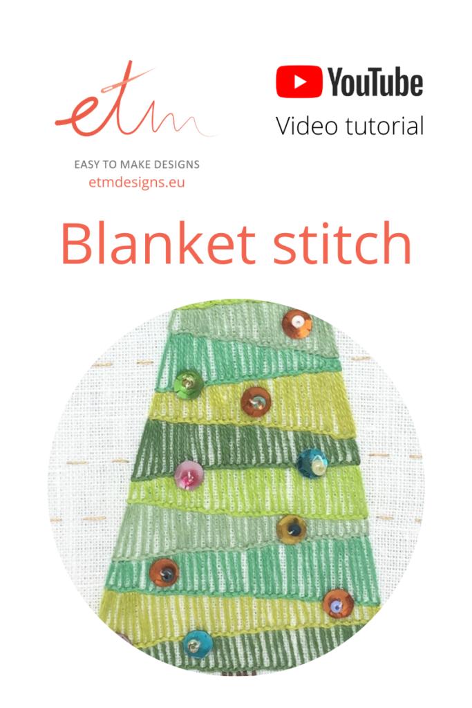 Blanket stitch tutorial PIN