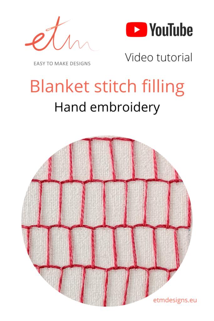 Blanket stitch filling PIN