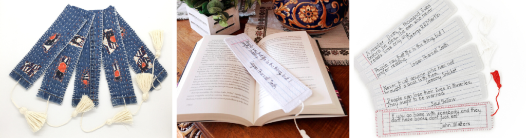 Bookmark - embroidered gift ideas