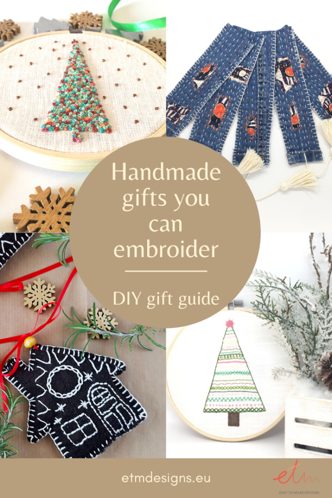 Hand embroidered gift ideas for Christmas