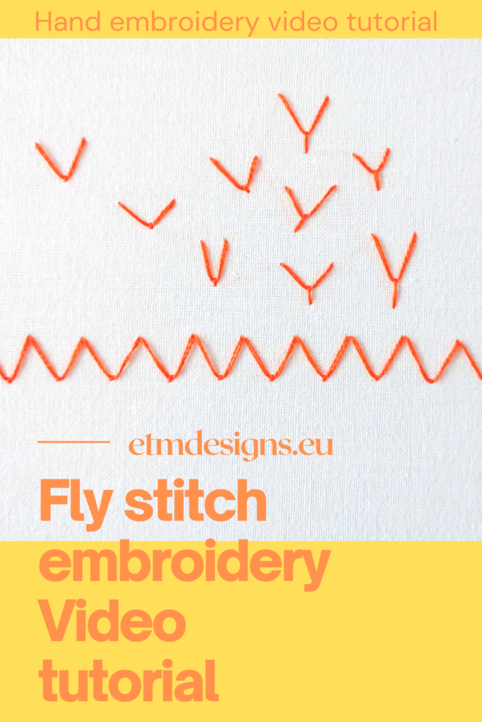 Fly stitch embroidery video tutorial PIN