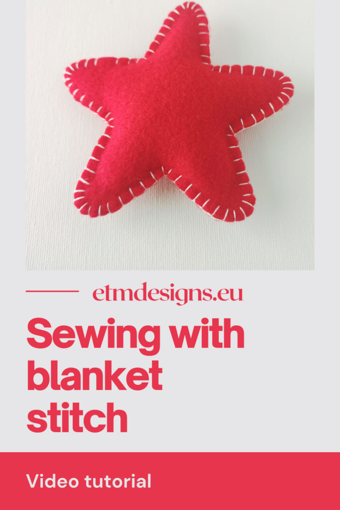 Sewing with blanket stitch PIN