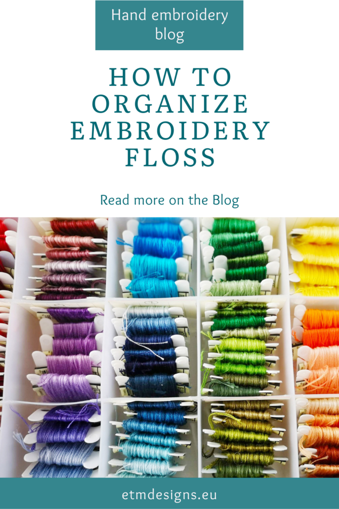 How to organize embroidery floss