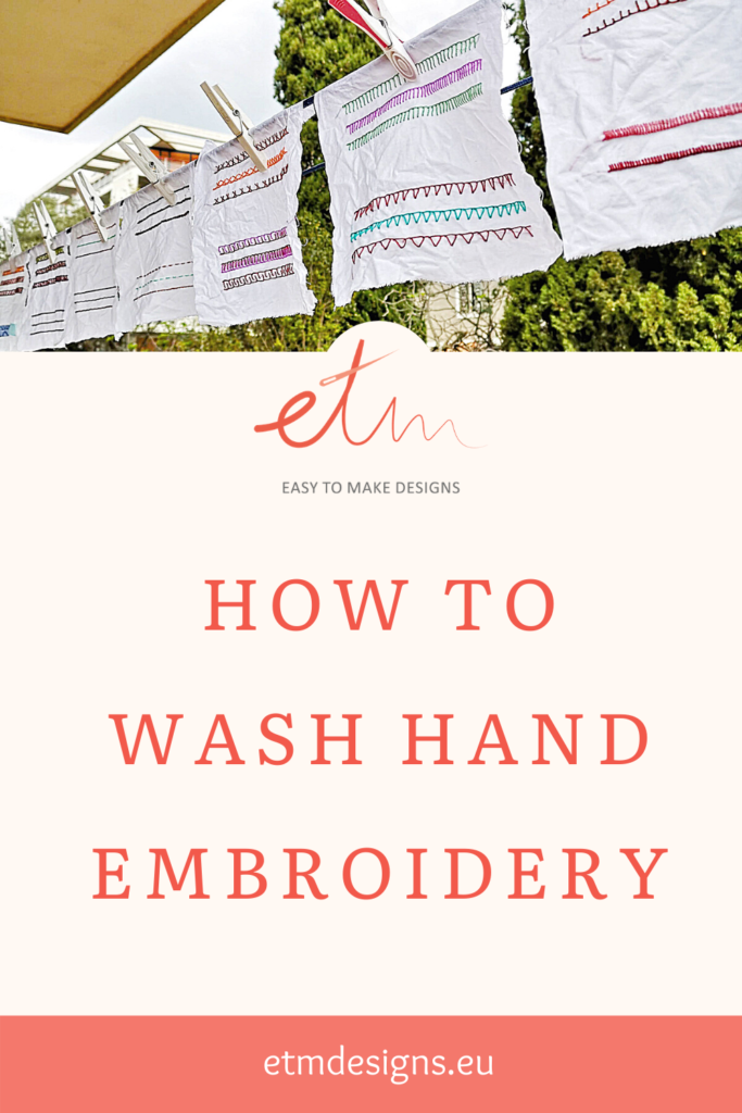 How to wash hand embroidery Pin