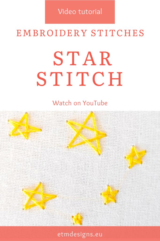 Woven star stitch video tutorial