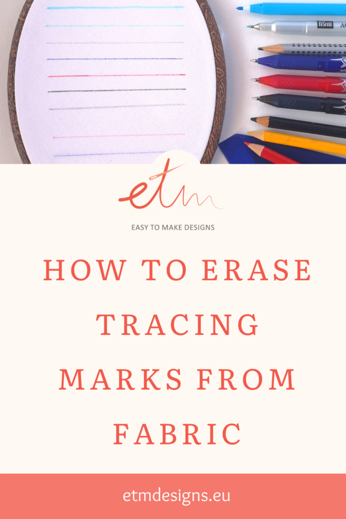 How to erase tracing marks from fabric PIN