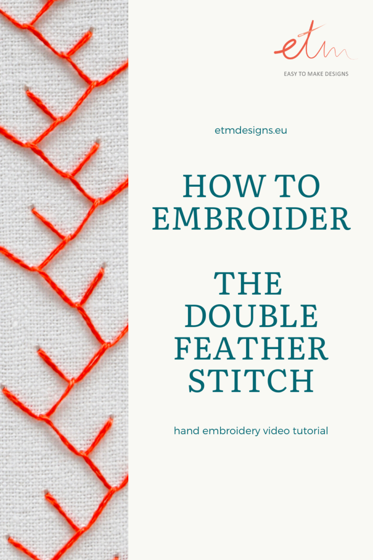 Double feather stitch video tutorial