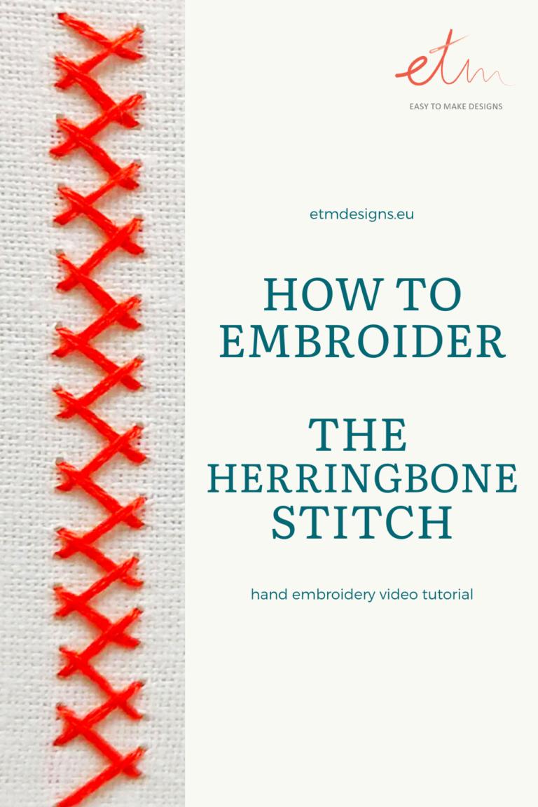Herringbone stitch video tutorial