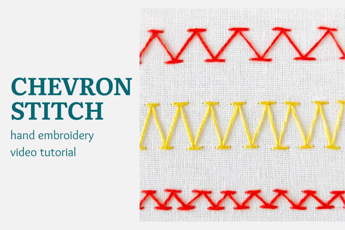 Chevron stitch video tutorial