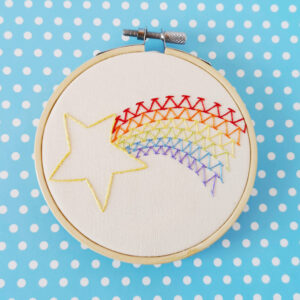Embroidered art in a hoop