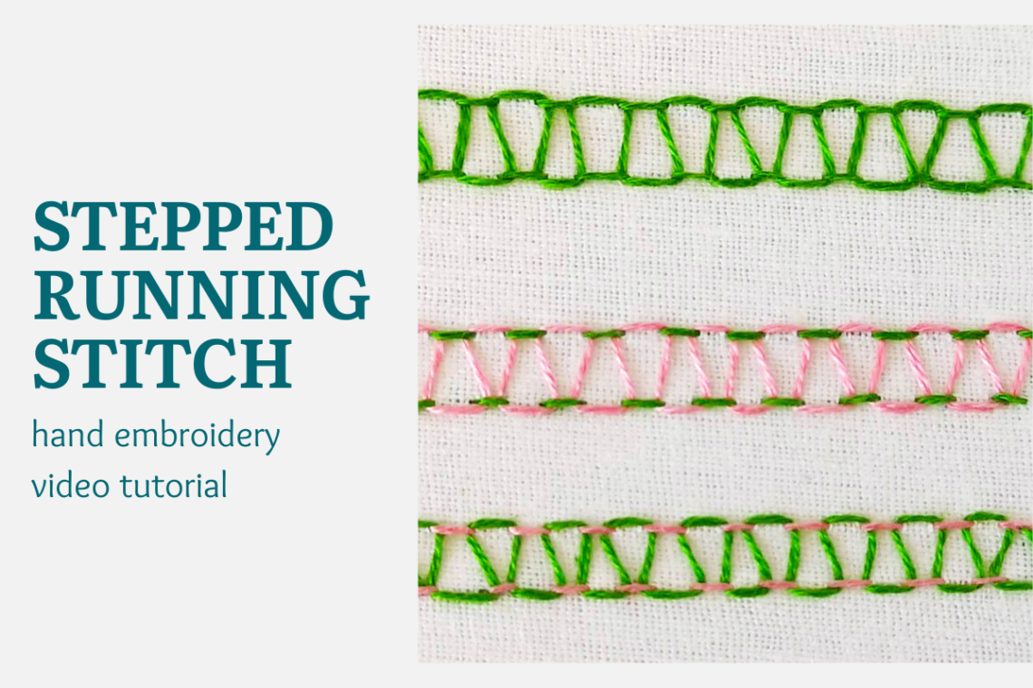 stepped running stitch video tutorial