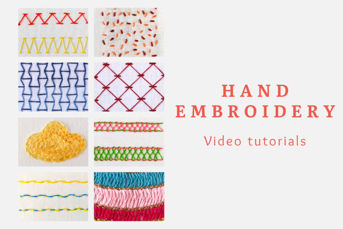 hand embroidery video tutorials
